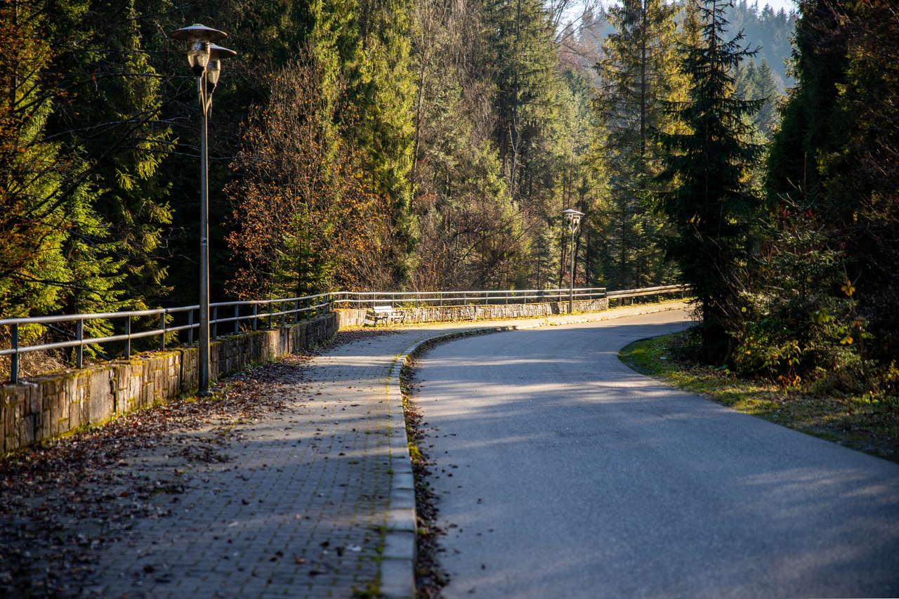 Deptak w kierunku Osiedla Łuszczki