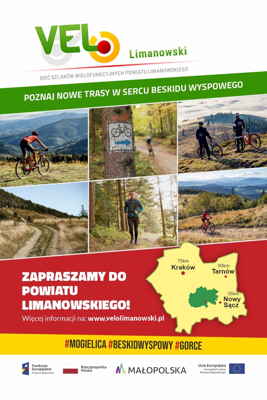 Rusza kampania promująca nowe szlaki turystyczne VELO Limanowski w Krakowie i Warszawie.