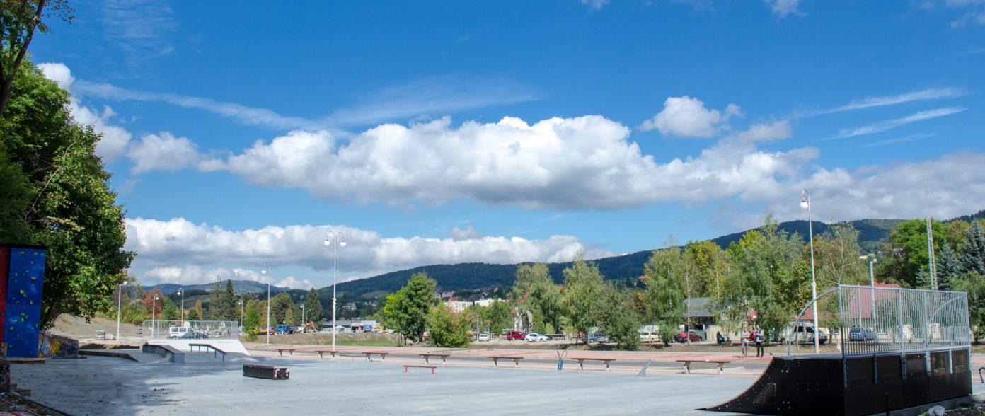 Skatepark w Parku Miejskim